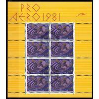 Спорт Швейцария 1981 год 1 малый лист