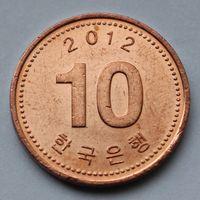 10 вон 2012 Корея