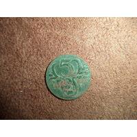 5 грошей 1931 (w) Польша бронза