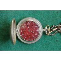 Часы карманные Молния рабочие , обслуженные