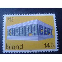 Исландия 1969 Европа