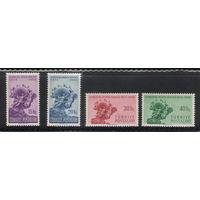 Турция 75 лет Всемирному почтовому союзу 1949 год чистая полная серия из 4-х марок