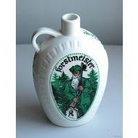 Бутылка - фляга лесничего FORSTMEISTER фарфор 0,5 л Германия