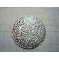 6 грошей 1666.