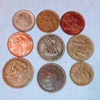 Монеты разных стран мира с рубля. Лот 8.