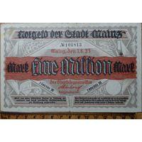 1 миллион марок 1923г. Майнц