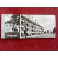 ГДР Прицвальк Pritzwalk набор 9 отрывных ч-б открыток 1974 г