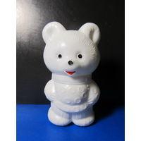 Мишка белый(9 см,пластмасса) времён СССР-5