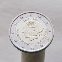 Бельгия 2 евро 2012 75 лет музыкальному конкурсу имени королевы Елизаветы