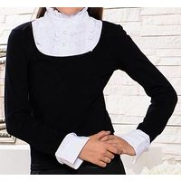 Р.134 школьная блузка-обманка-кофта Sabotage