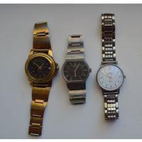 Часы мужские с браслетами (2 механики+1 кварц). На ходу.