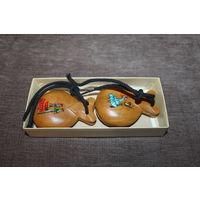 Деревянные кастаньеты, в оригинальной коробочке, состояние новых, Испания.