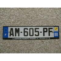 Автомобильный номер Франция AM-605-PF