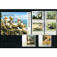 Камбоджа 2000г, птицы, 6м, 1 блок