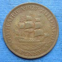 Южная Африка Британский доминион 1 пенни 1927 Георг V тип 2 тираж 285.000