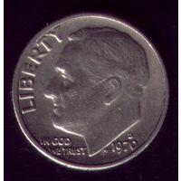 1 дайм 1970 год США D