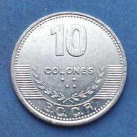 Коста-Рика 10 колонов, 2012