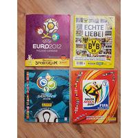 Четыре журнала с карточками наклейками Футбол UEFA FIFA / 2006, 2009, 2010, 2012 годы
