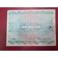 100 крон 1922 года Австрия (серия 1181)
