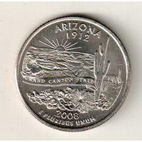 США квотер 2008 штат Аризона