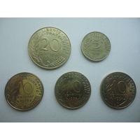 Франция набор монет -остатки