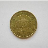 20 евроцентов Германия 2002 J.