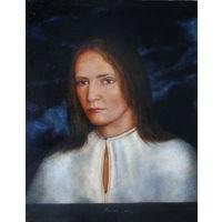 Портрет девушки в белой рубашке