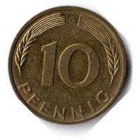 Германия. 10 пфеннигов. 1991 G
