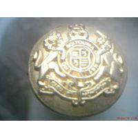 Пуговица золотистая металлическая