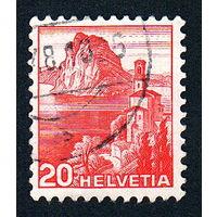 38: Швейцария, почтовая марка, 1936 год, номинал 20с, SG#375A
