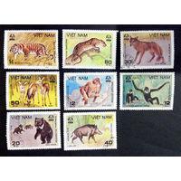 Вьетнам 1981 г. Животные национального парка Cuc Phuong. Фауна, полная серия из 8 марок #0227-Ф1P52