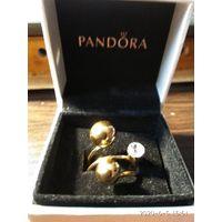 """Женское кольцо"""" Поцелуйчик """"покрытие под золото страз."""