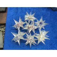 Семь гирляндных звезд для творчества или как елочные игрушки с рубля!