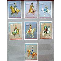 Марки Экваториальная Гвинея 1976. Военная униформа. Форма кавалеристов