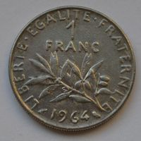 Франция, 1 франк 1964 г.