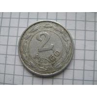 Венгрия 2 пенгё 1942г. самый редкий год