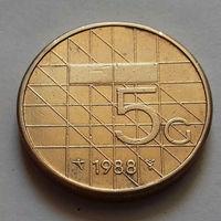 5 гульденов, Нидерланды 1988 г.