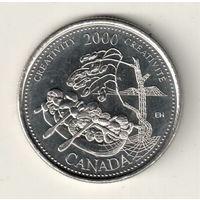 Канада 25 цент 2000 Креативность