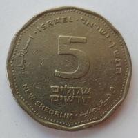 """Израиль 5 новых шекелей 1990 """"Фрагмент античной колонны"""""""
