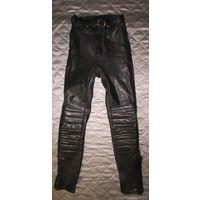 Байкерские брюки кожаные BlueBird (Блюберд), р.40 (женские)