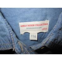 Джинсовая рубашка для девочки, р.116-122