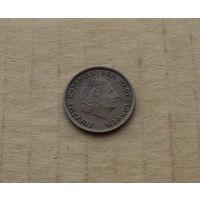 Нидерланды, 1 цент 1958 г., королева Юлиана (1948-1980)