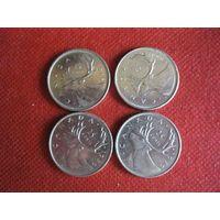Канада, 25 центов. Цена за штуку.
