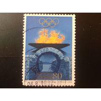Япония 2004 Олимпийский огонь в Афинах