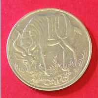 Эфиопия, 10 центов, лев
