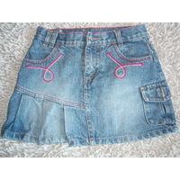 Юбка джинс рост 140