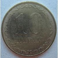 Таджикистан 10 дирам 2019 г.