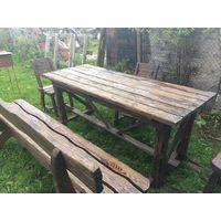Комплект садовой мебели - стол, скамейка, стулья