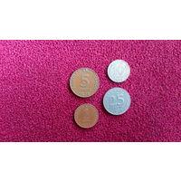 Тринидад и Тобаго набор 4 монеты 1971-1972