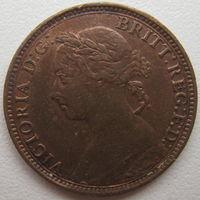 Великобритания 1 фартинг 1891 г. Виктория